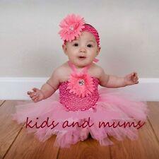 baby girls dress TUTU party,wedding dress+matching headband 3-18 mnth,UK SELLER