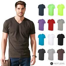 Next Level Men's Fitted Simple Plain CVC V-Neck Tee T-Shirt 6240 S-2XL