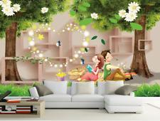 3D Boy And Girl Cartoon 5224 Wall Paper Wall Print Decal Wall AJ WALLPAPER CA