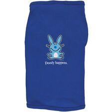 Happy Bunny - Doody Happens Doggy Adult Mens T-Shirt