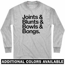Joints Blunts Bowls Bongs Long Sleeve T-shirt - LS - 420 Weed Pot  - Men / Youth
