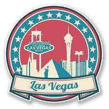 2 X 10 Cm Las Vegas Nevada Usa Vinilo Adhesivo Ipad Laptop viaje en automóvil equipaje # 6735