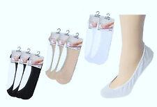 3, 6 oder 12 Paar Füßlinge Ballerina Footies Footy Baumwolle Füsslinge Gr.35-46