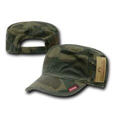 Camouflage GI Patrol Fatique Camo Zipper Cadet Flat Top BDU Cap Caps Hat Hats
