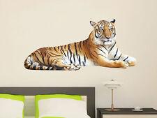 Wandsticker Sticker Wandaufkleber Wanddeko Afrika Asien Tiger liegt Wandtattoo