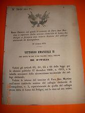 REGIO DECRETO 1876 comune FARA SAN MARTINO separato LAMA DEI PELIGNI GESSOPALENA