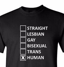 Straight Lesbian Gay Bisexual Trans Human Tolerance Shirt LGBT Funny T-shirt