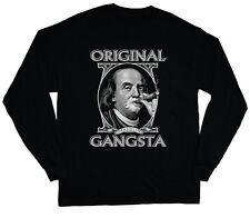 long sleeve t-shirt for men Benjamin Franklin original gangster tee shirt