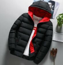 Men's Hooded Jacket Bubble Puffer Thicken Coat Slim Fit Winter Warm Outwear New