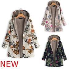 Jacket Padded New Fluffy Coat Women's Parka Outwear Winter Floral Hooded Warm