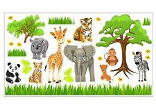nikima 088 Wandtattoo Baby Tiere Safari Dschungel Savanne Kinderzimmer Sticker