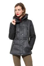 Desigual Grey Marlene Coat 36-46 UK 8-18 RRP £159 Gilet Effect Contrast Arms