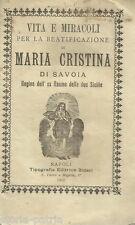 REGNO DI NAPOLI E SICILIA_MARIA CRISTINA DI SAVOIA_SARDEGNA_CAGLIARI_AGIOGRAFIA
