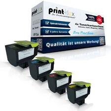 4x Premium Tonerkartuschen für Lexmark 80C2S Color Kit XXL - Easy Print Serie