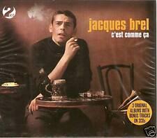 JACQUES BREL C'EST COMME CA 2 CD BOX SET