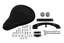 Black Leather Solo Seat Kit fits Harley Davidson,V-Twin 47-0132