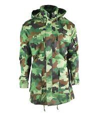 Original Serbian army field Jacket special forces woodland camo combat parka NEW