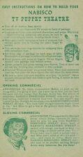 1956 Nabisco Rin Tin Tin Card TV Puppet Theatre