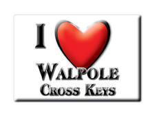 SOUVENIR UK - ENGLAND FRIDGE MAGNET I LOVE WALPOLE CROSS KEYS (NORFOLK)