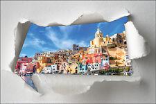 Sticker Trompe l'oeil papier déchiré déco La Grèce réf 1382