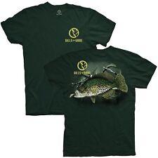 Gills N Game Crappie Fresh Water Fishing Dark Green Short Sleeve Tee Shirt