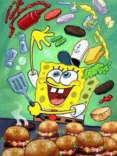 SpongeBob SquarePants Krabby Patty Hamburger Funny Art Giant Wall Print POSTER
