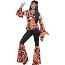 Ladies 1960's Willow Hippy Fancy Dress Costume Hippies Women's 1970's Hen Fun