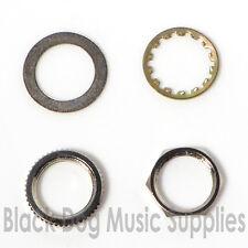 Repuesto Guitarra interruptor tuercas y arandelas opción de montaje en cromo.