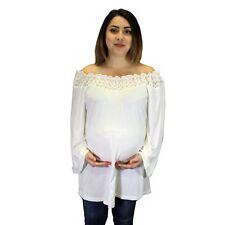 Beige Long Sleeve Lace Vintage Boho Maternity wear