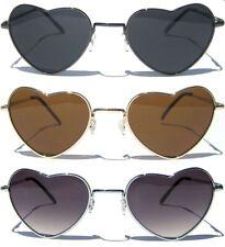 Heart Shaped Metal Frame Women Cute  Aviator Sunnies Fashion Retro Sunglasses