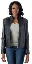 Women's Moto Leather Fashion Jacket - Soft Genuine Leather Coat Reed Since 1950