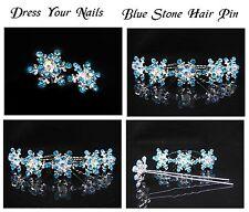 Elsa Frozen Snowflake Hairpins  Wedding Accessory Snow Flower Blue Sticks SB125