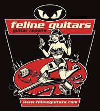 Feline Guitars -Guitar Repair sexy Girl Tech Gibson Flying V - Vince Ray design