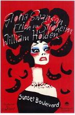 65863 Sunset Boulevard Gloria Swanson, William Holden Wall Print Poster CA