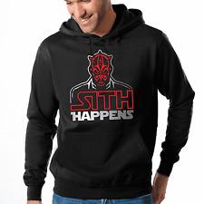 Sith Happens Star Wars Satire Parodie Darth Maul Kapuzenpullover Hoodie Größe L