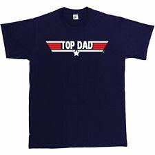 Top Dad Fathers Day Birthday Gift Top Gun Present Christmas Mens T-Shirt