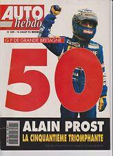 AUTO HEBDO N°889.1993.50 ème VICTOIRE DE PROST. ESSAI MERCEDES C280. BMW 325 I.