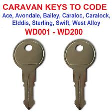 Coachman caravan key Cut to key code or digital picture