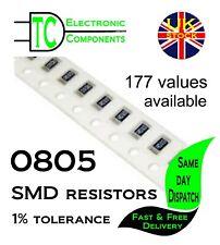 0805 SMD Resistors 0.125W 1% tolerance  Full Range Available **UK Seller**
