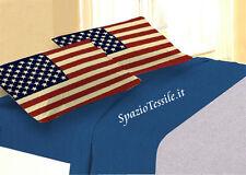 Completo Lenzuola Le Parole Del Cuore - Bandiera USA Stampa Digitale 100% cot.