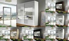 "BRAND NEW MODERN BEDROOM 2 SLIDING DOORS WARDROBE ""BRAVA 3"" WITH MIRROR 180 CM"