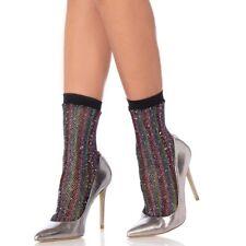 Leg Avenue Rainbow Lurex Fishnet Ankle Socks|4-7