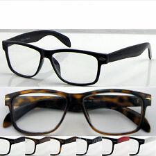 L142 Wayfarer Reading Glasses+Case/Super Classic Style /Large Frame Nerd Glasses