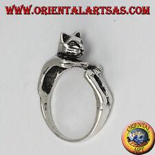 Anello in argento 925  il gatto