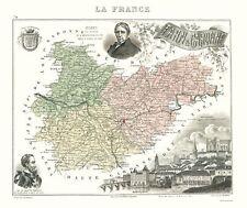 Old France Map - Tarn-et-Garonne - Migeon 1869 - 23 x 27.37