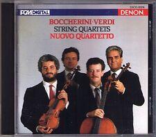 NUOVO QUARTETTO: BOCCHERINI VERDI String Quartet DENON Japan CD Streichquartett