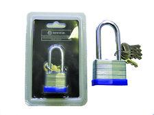 5 KEYS 30-50 mm Heavy Duty Long Shackle Padlock Security Outdoor Job Lot Qty 10