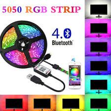 4pcs WiFi USB LED Strip Streifen Lichtband für Alexa Google Fernbedienung LD1758
