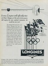 1951 Olympics Longines Switzerland Original Swiss Print Ad Suisse Publicite