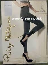 Pantacollant donna Matignon effetto melange con gancini laterali sulle caviglie